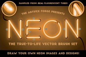 Neon Realistic Brush Set