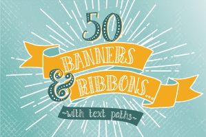 Hand-drawn Banners & Ribbons Bundle