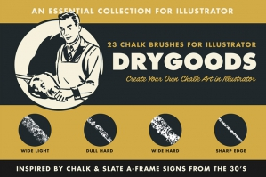 Dry Goods Chalk Brushes