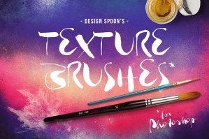 Photoshop Texture Brushes + Bonus