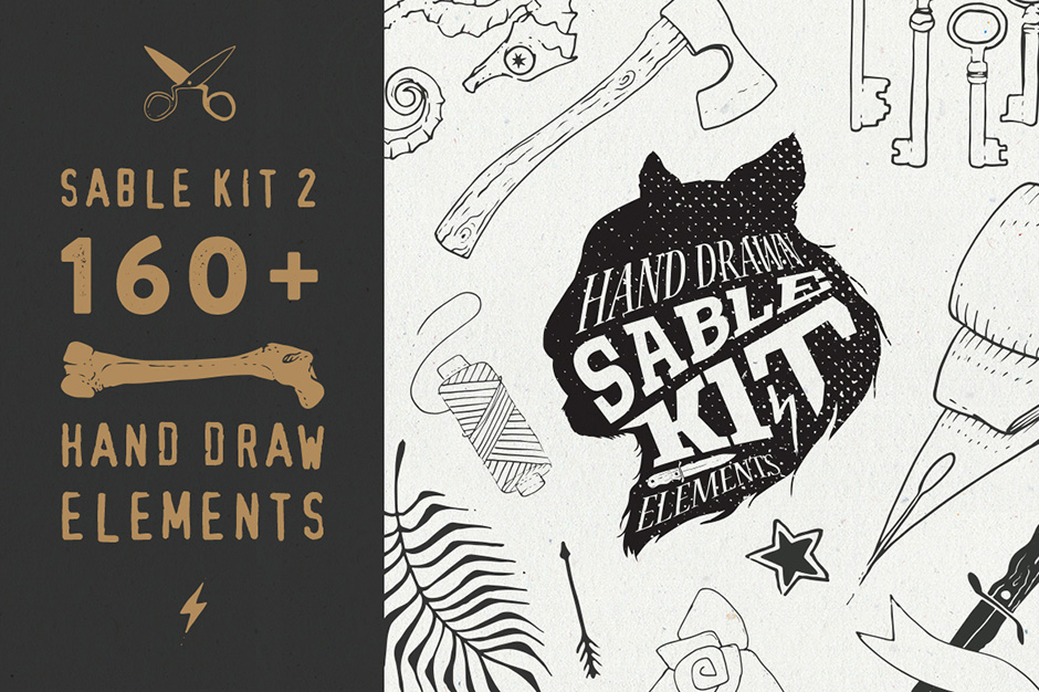 Sable Kit 2 Hand-drawn Collection