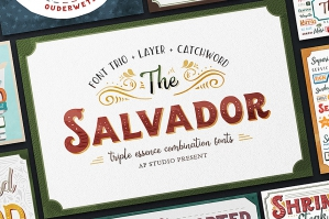 The Salvador Font Combination