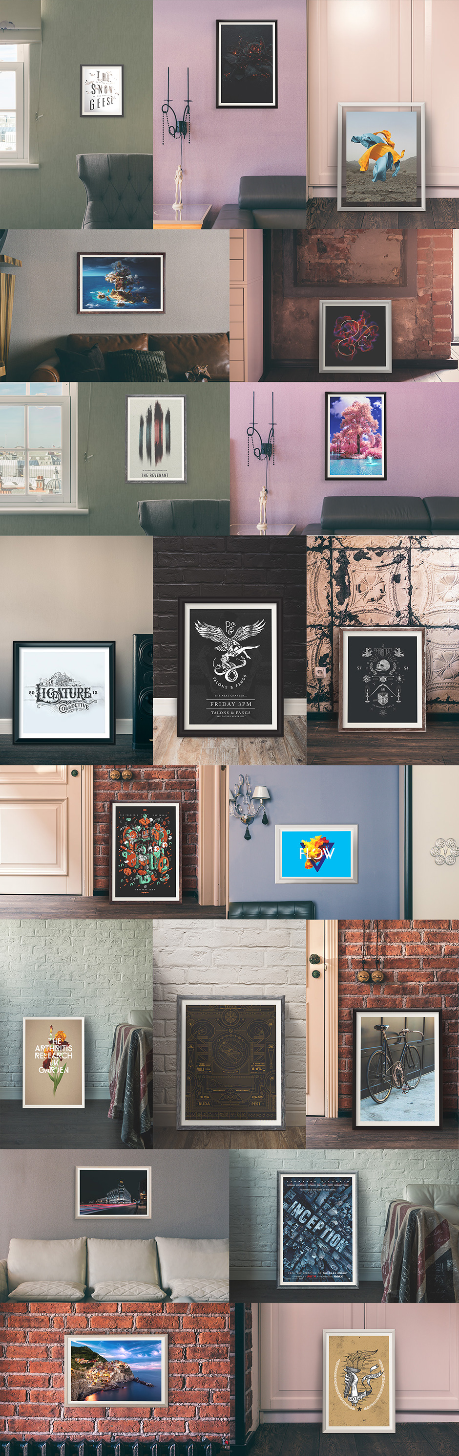 Showroom Frames and Mockups