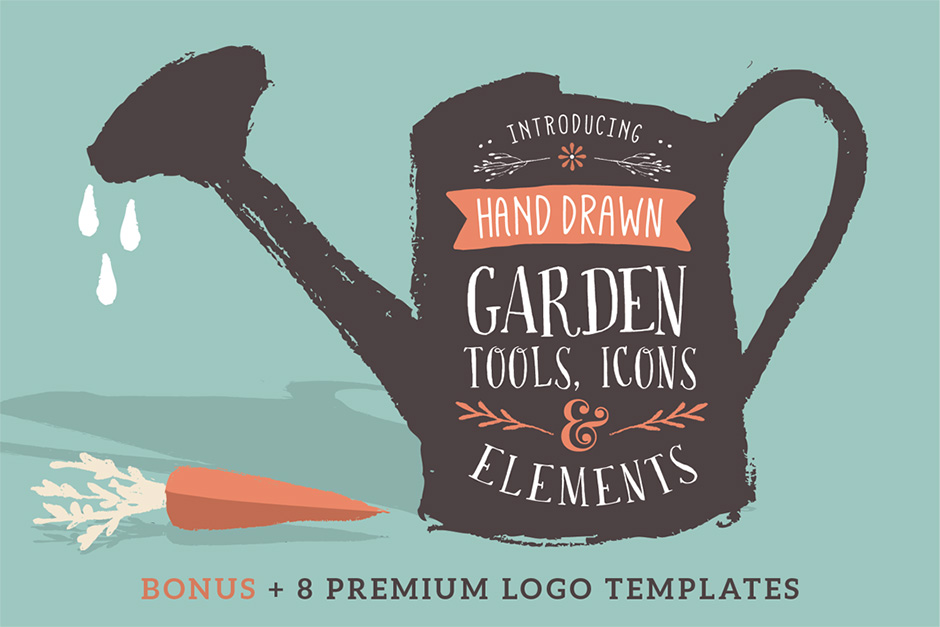 Sketched Icons Tools Elements