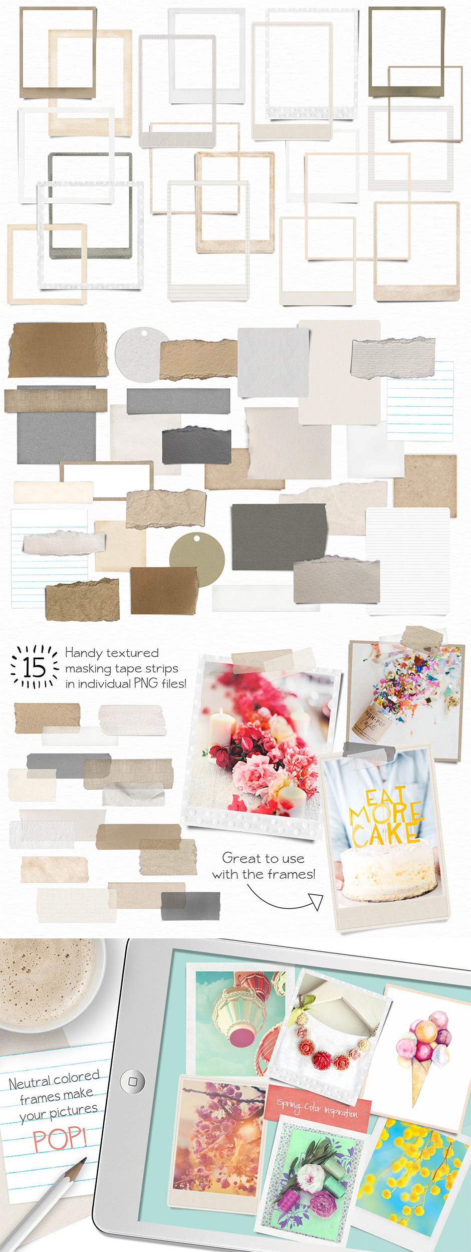 Textured Frames and Notes