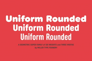Uniform Rounded Font Family