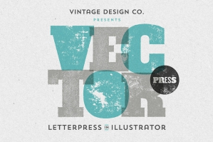 VectorPress Illustrator Letterpress