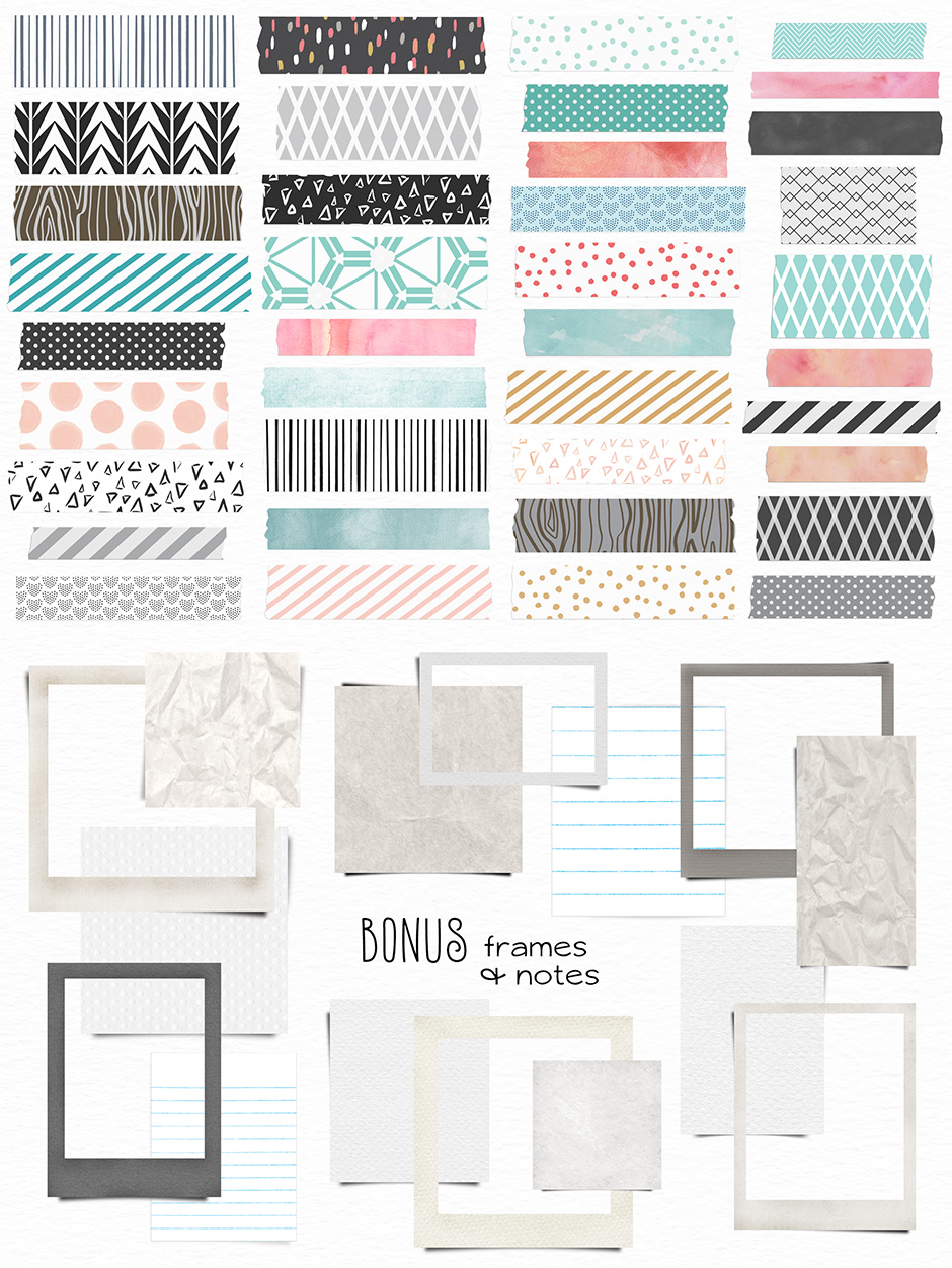 Washi Tape Frames and Notes