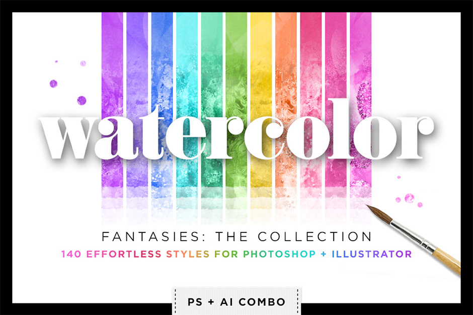 Watercolor Glitter Styles Bundle
