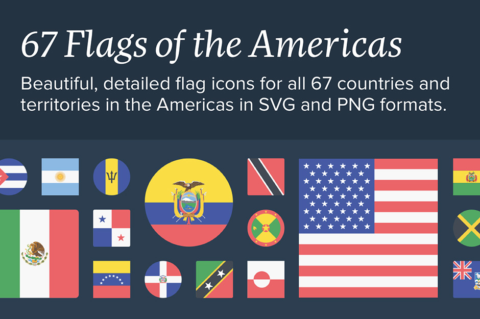 The Flags of the Americas Icon Set