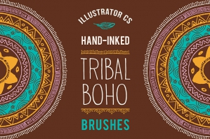 50 Boho Tribal Gypsy Brushes