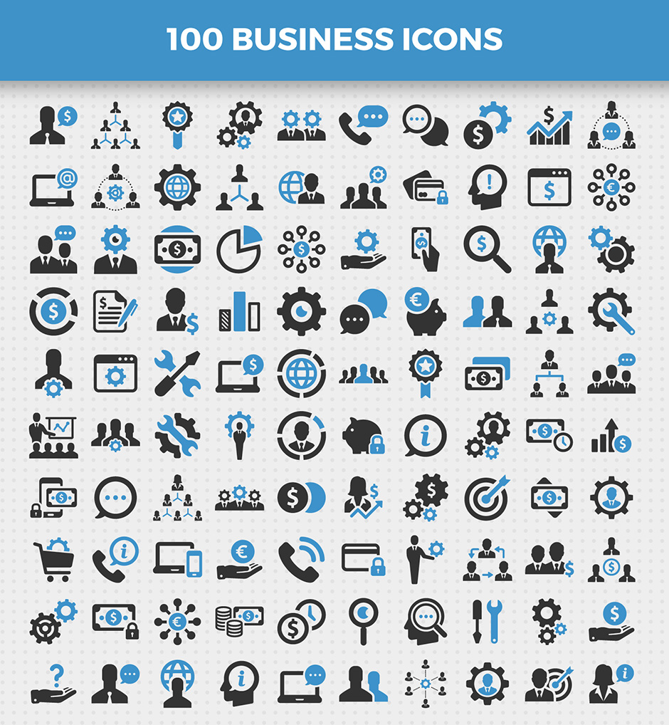 100 Business Icons Vol. 1