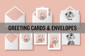 Envelope & Greeting Card Mockups