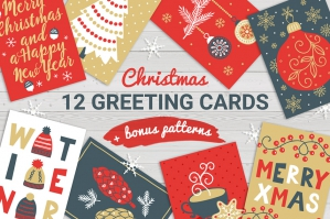 12 Christmas Cards + Bonus Patterns Volume 1