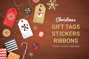 Christmas Ribbons, Stickers & Tags