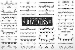 Hand-drawn Dividers Borders