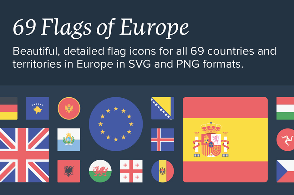 The Flags of Europe Icon Set