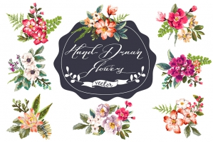 Hand-drawn Flower Collection Vol. 2