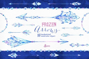 Frozen Arrows Watercolor Collection
