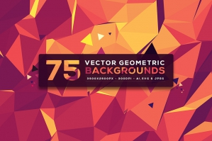75 Vector Geometric Backgrounds Vol. 5