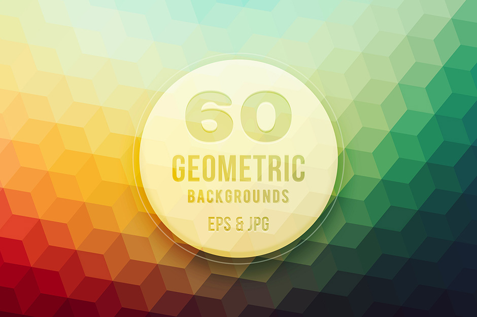 …60 Geometric Vector Backgrounds