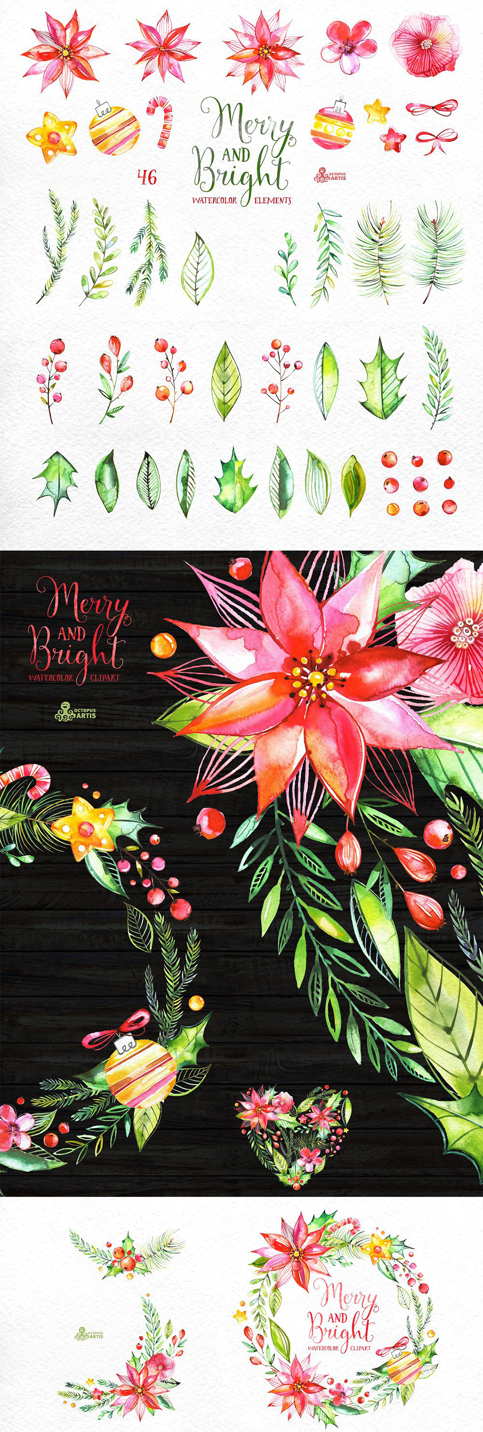 Merry And Bright Watercolor