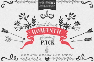 Hand-drawn Romantic Decoration Pack