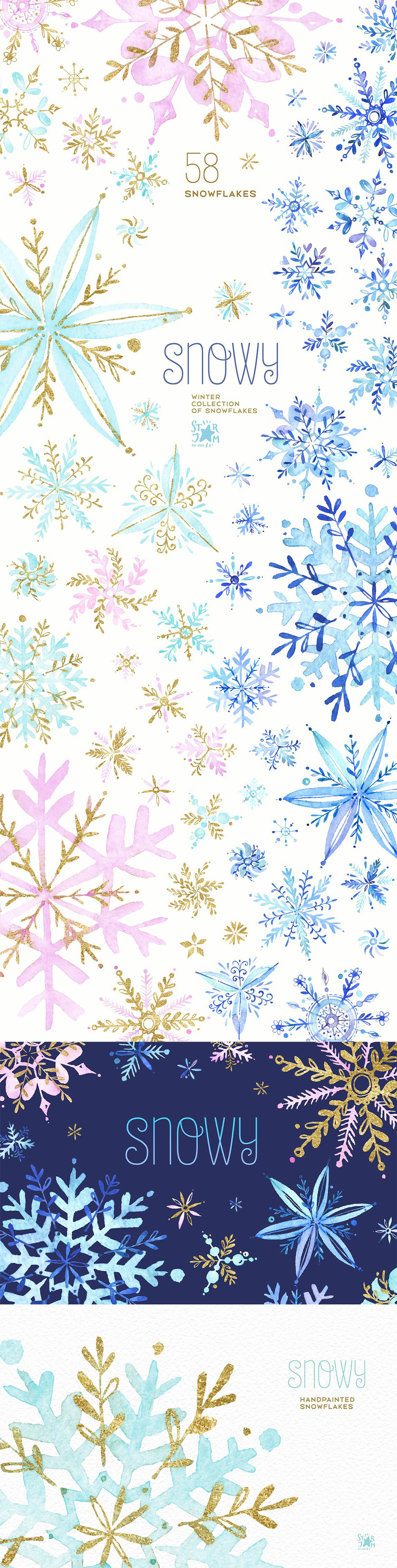 Snowy Holiday Snowflakes