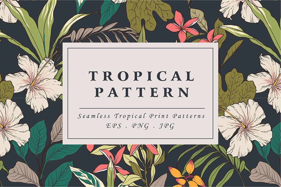 Tropical Flower Patterns