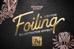 Vector Foiling Illustrator Effect