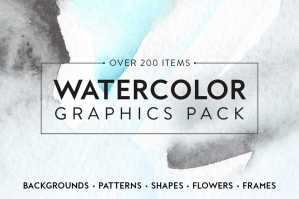 Watercolor Graphics Pack