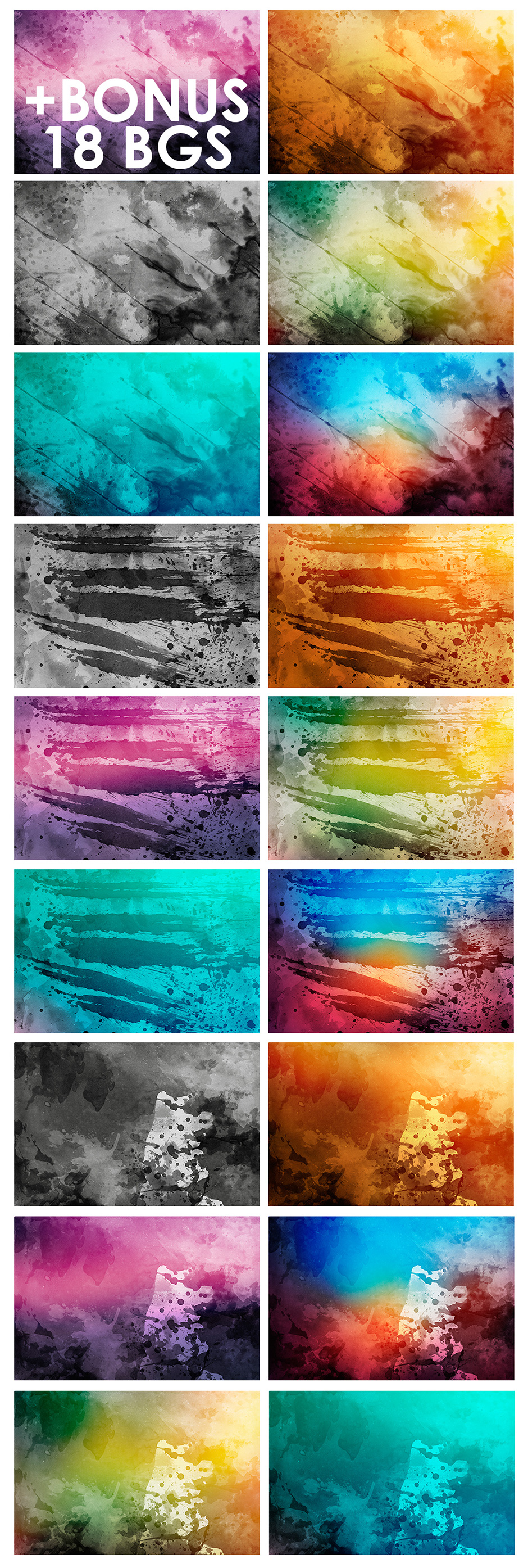 Watercolor Backgrounds 2 & Bonus