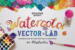 Watercolor Vector Lab - Illustrator