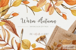 Warm Autumn Watercolor DIY Pack