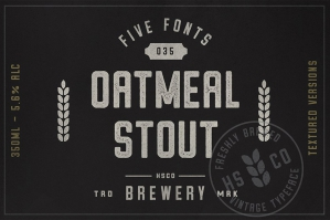 Oatmeal Stout Typeface