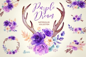 Purple Dream Watercolor Collection