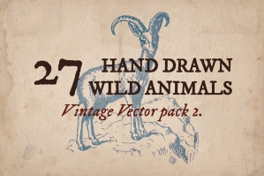 27 Hand-drawn Wild Animals