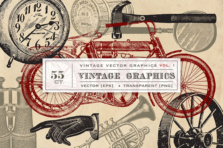 55 Vintage Vector Graphics
