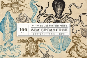 Vintage Sea Creatures & Monsters