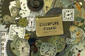 Steampunk Time Graphics Set