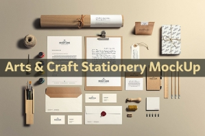 Arts & Craft Stationery MockUp