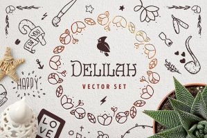 Delilah Hand-drawn Vector Creative Toolkit