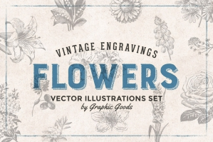 66 Vintage Flower Engravings