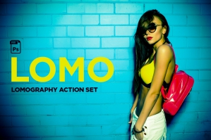 Lomography Photoshop Action Set