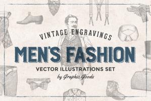 Men's Fashion Vintage Engravings
