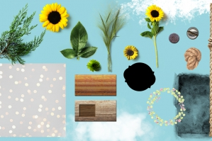 Brushes, Flower & Outdoor Vector Elements, Textures and Backgrounds
