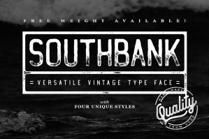 Southbank Vintage Typeface