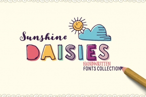 Sunshine Daisies Font Collection