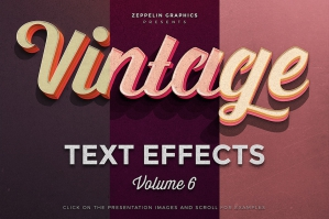 Free: Vintage Text Effects Vol. 6
