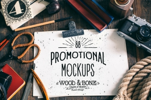 Wood Bone Promotional Mockups